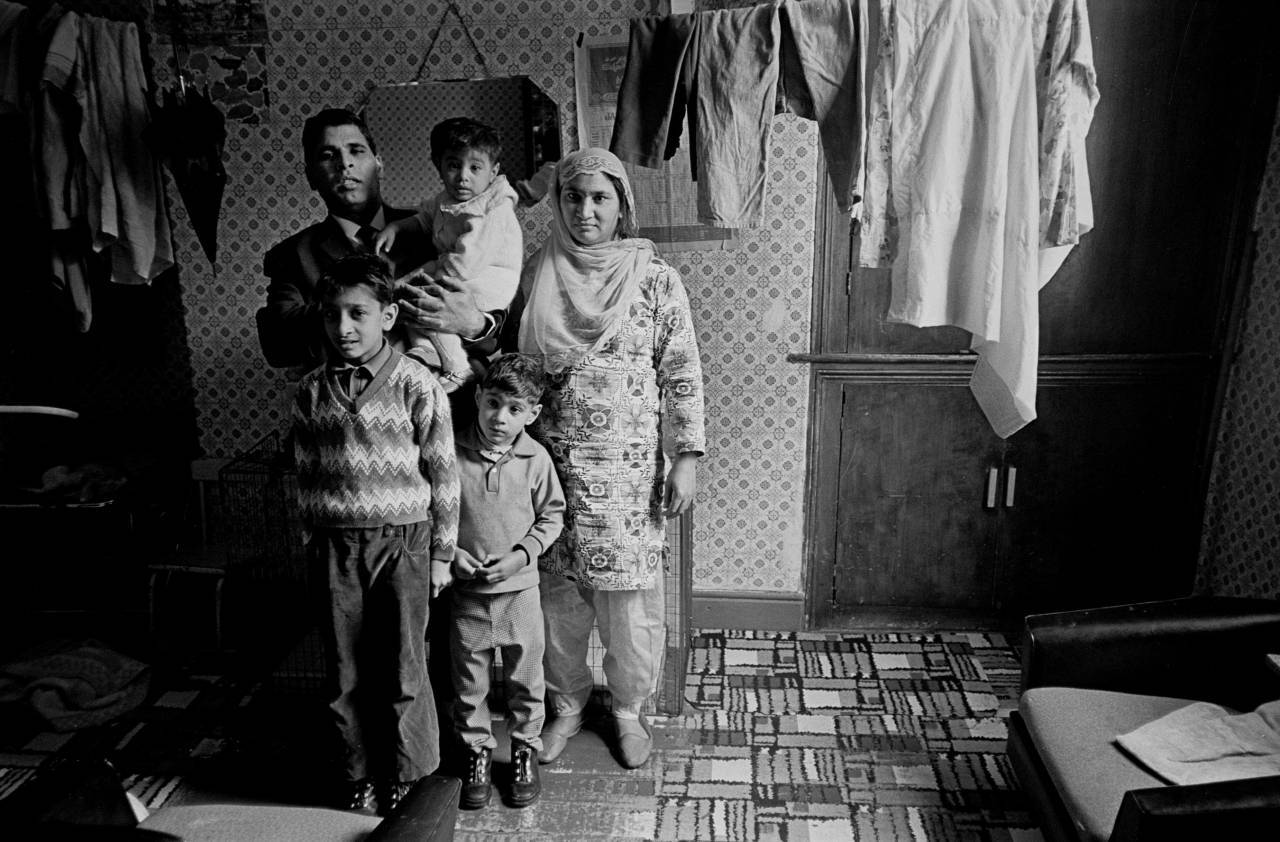 Family living in overcrowded accommodation, Bradford 1972