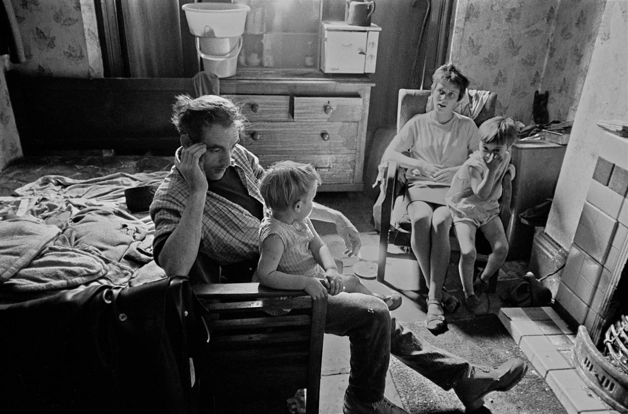 Family living without running water Liverpool 8 1971