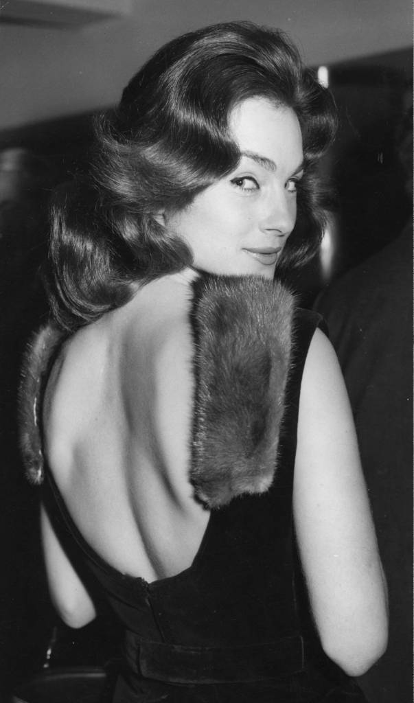 The British actress Shirley Ann Field attends a Variety Club Charity Luncheon at the Savoy Hotel, London, dressed in a mink-trimmed backless dress. (Photo by J Wilds/Getty Images)