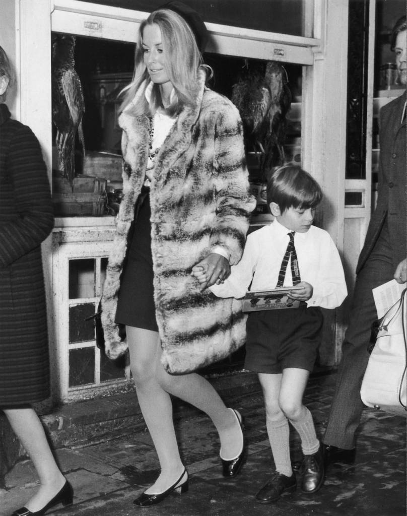 Sandra Paul and Son Alexander Sholto arrive for memorial service of Robin Douglas Home (former Husband) 1968
