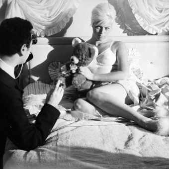 Brilliant Photos of Michael Winner Directing Diana Dors In West 11 (1963)