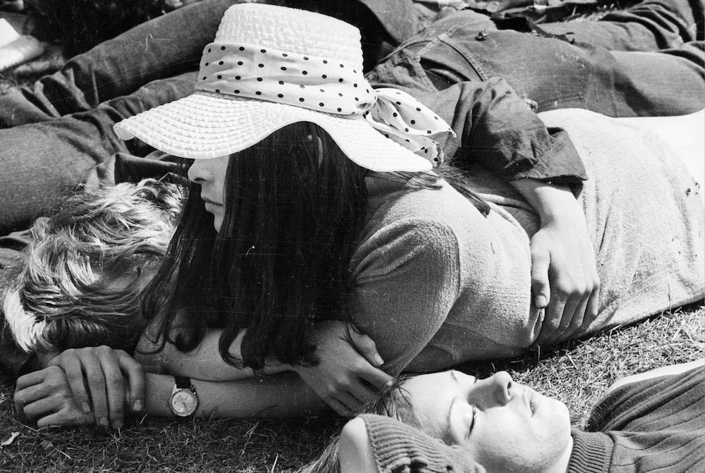 5th July 1969: A long-haired spectator at the free Rolling Stones tribute concert to recently deceased band member Brian Jones in London's Hyde Park. (Photo by Reg Burkett/Express/Getty Images)