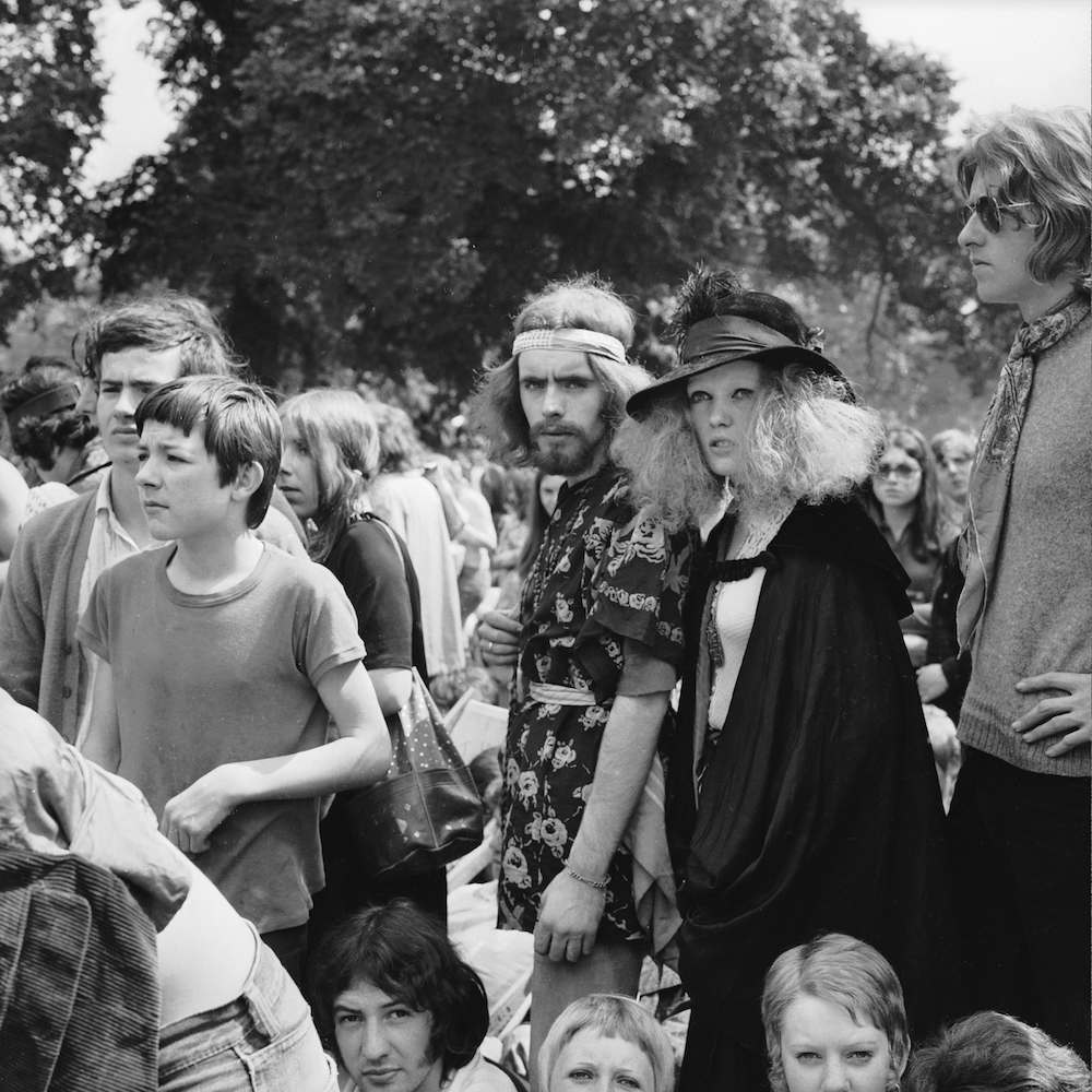5th July 1969: Music fans in Hyde Park to see the Rolling Stones in concert. (Photo by Reg Burkett/Express/Getty Images)