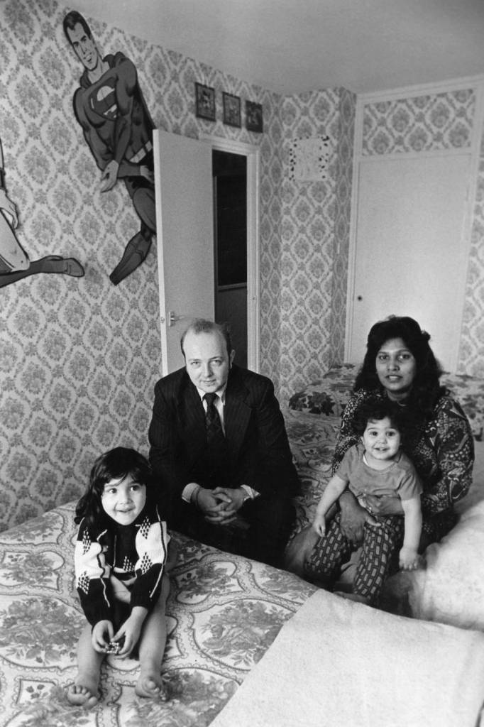 7th March 1979:  The Cunningham family at home in a high-rise flat in Wandsworth.  (Photo by Evening Standard/Getty Images)