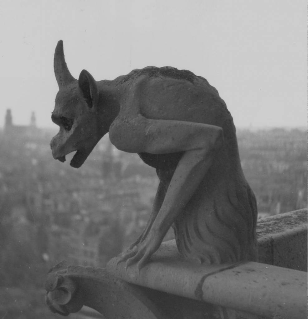 circa 1930: A Gargoyle on the cathedral of Notre Dame on the Ile de la Cite in central Paris. (Photo by Edward Charles Le Grice/Le Grice/Getty Images)