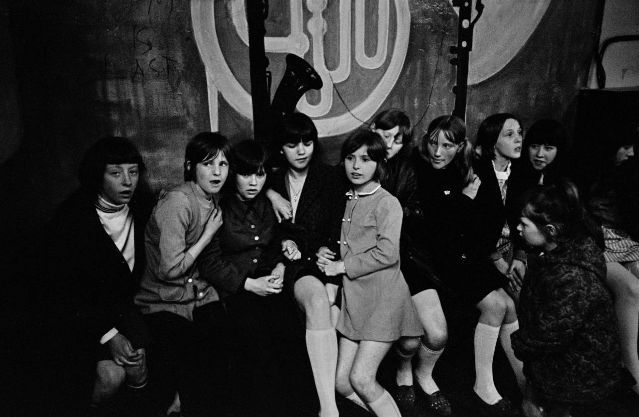 Girls at a youth club in Granby St 1969