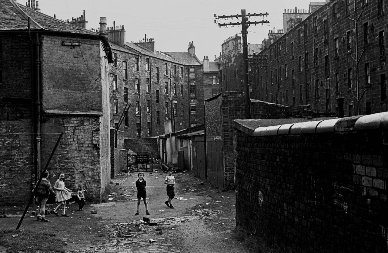 Glasgow tenement backs 1970