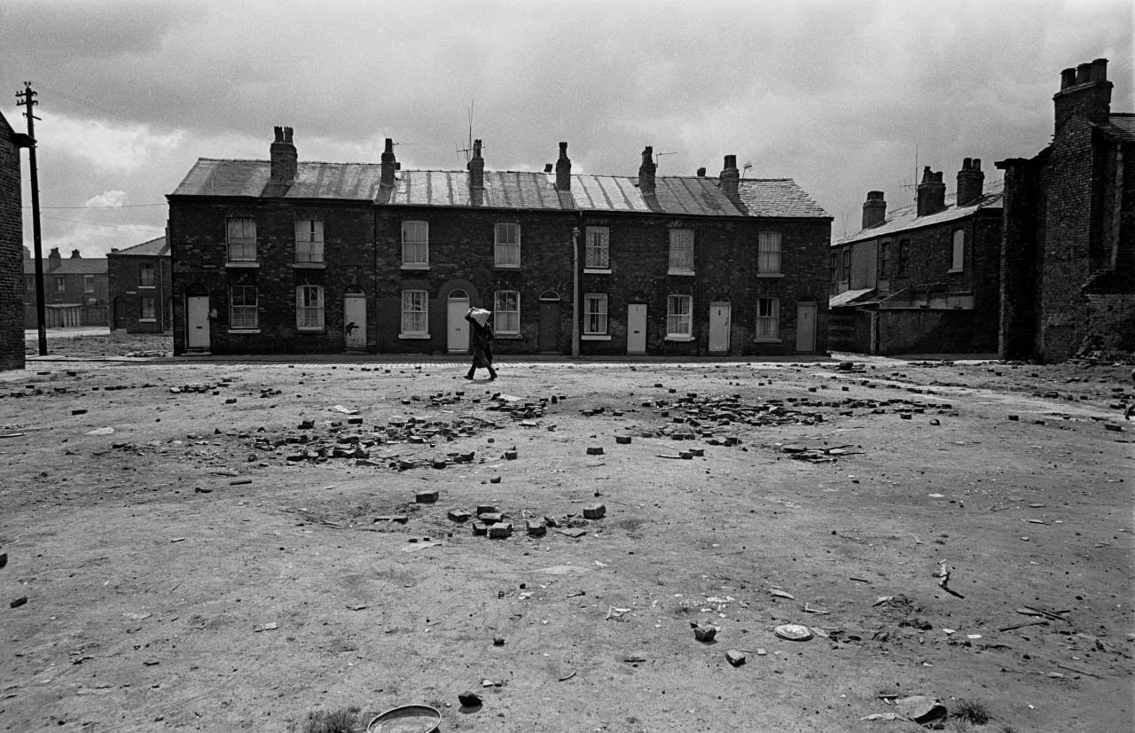 Half slum cleared area of Salford 1971