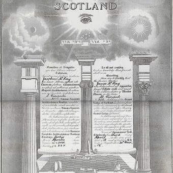 Membership Papers for Scotland's Secret Grand Lodge of Masons (1918)