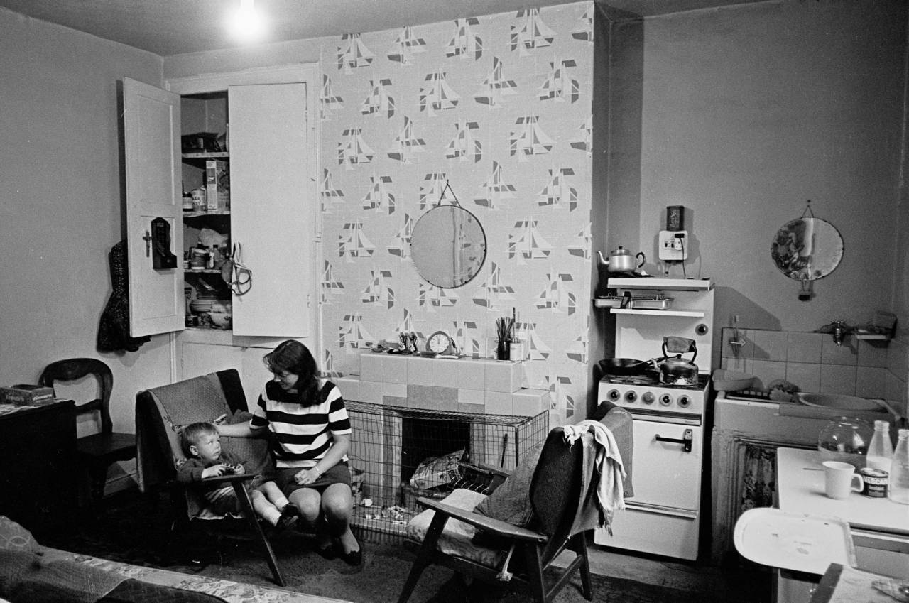 Attractive Living Room And Kitchen Leeds Back To Back Housing 1970