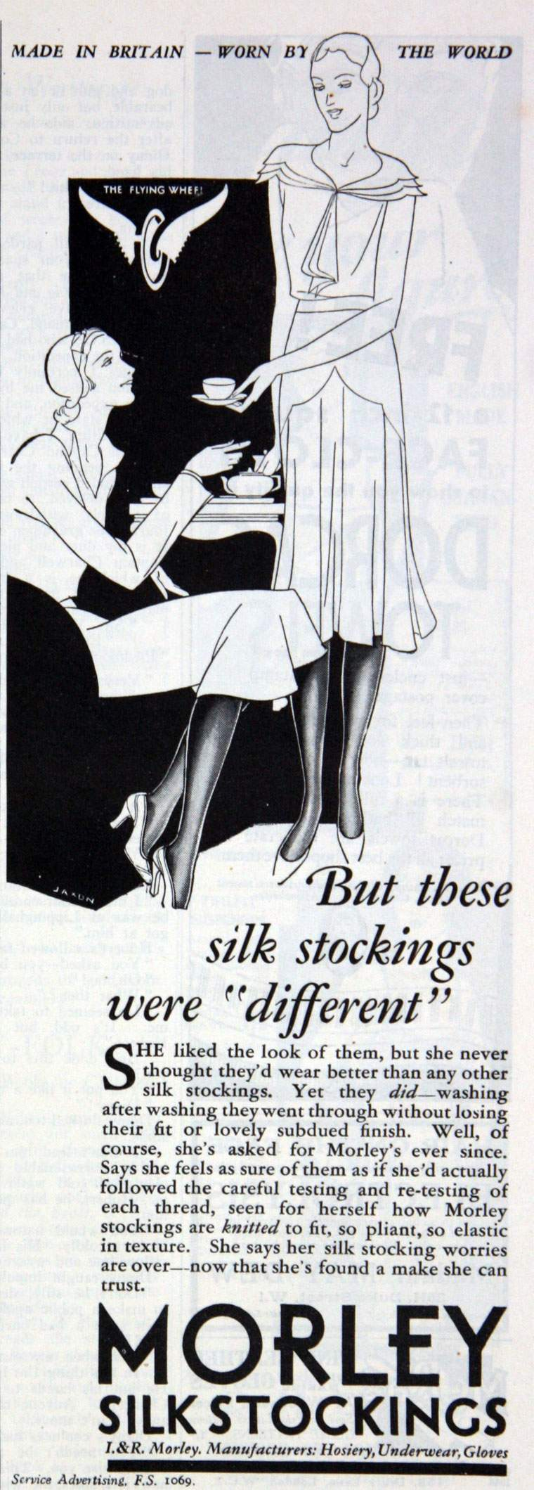 May 1931. Morley silk stockings