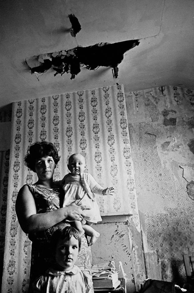 Mother and baby, slum property Sparkbrook, 1971