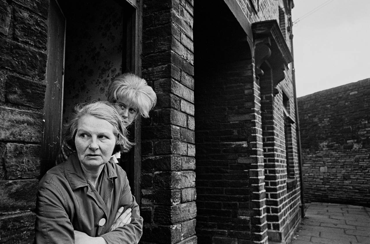Mother and daughter living slum terrace, Bradford 1969