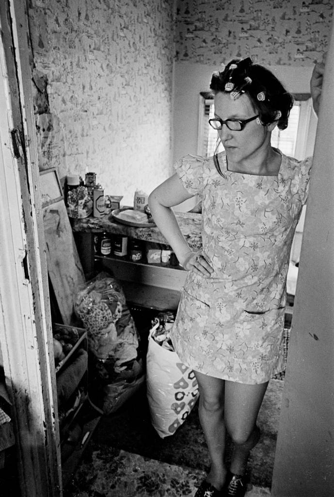 Mother living in one bedroom flat, Tottenham 1972