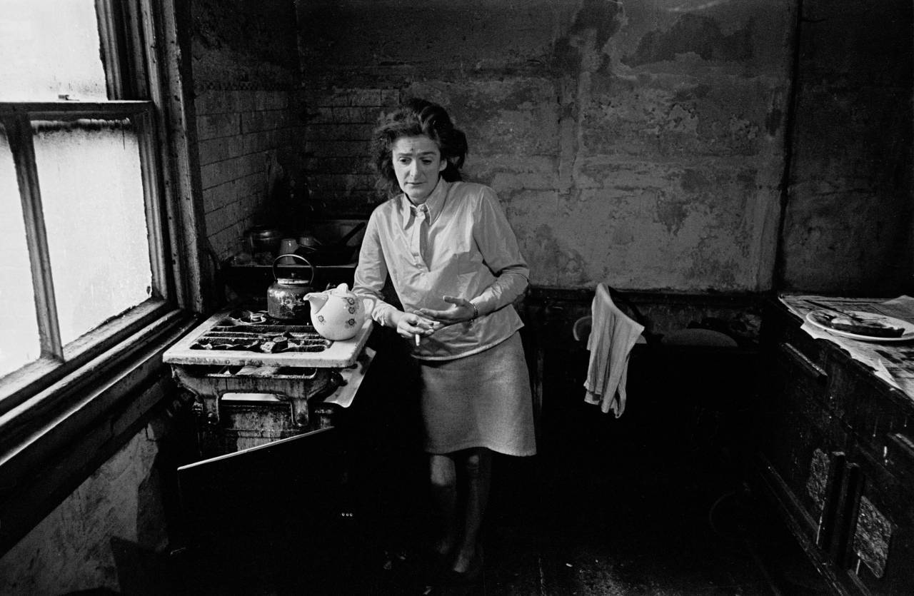 Newcastle housewife in her kitchen 1972