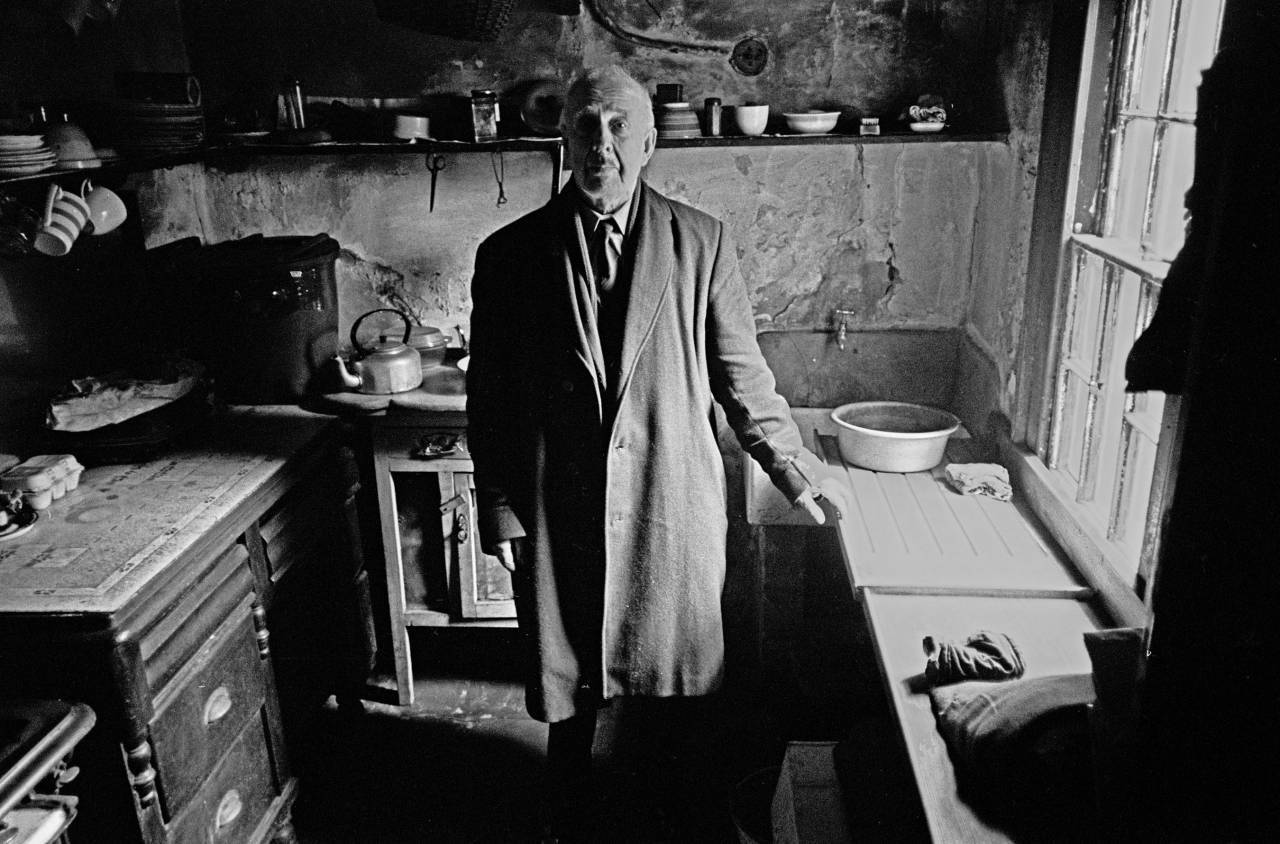 OAP in the kitchen of his house Liverpool 8 1969