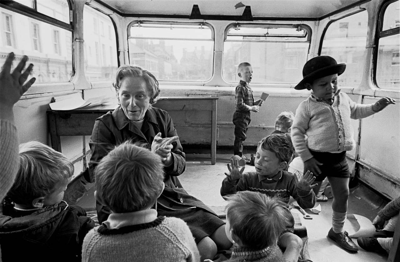 On board the Liverpool 8 double decker playbus 1969 190-16