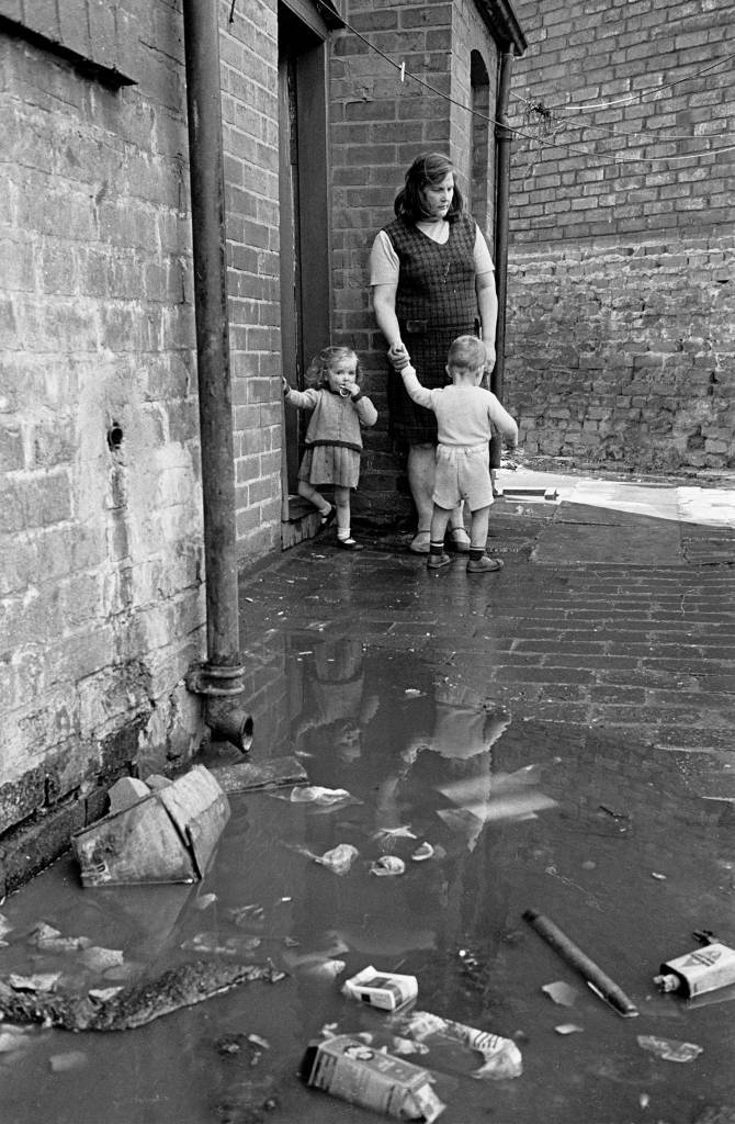 Overflowing drains Winson Green 1971