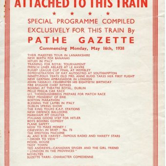 All Aboard the LNER Pathé Cinema Train of 1938
