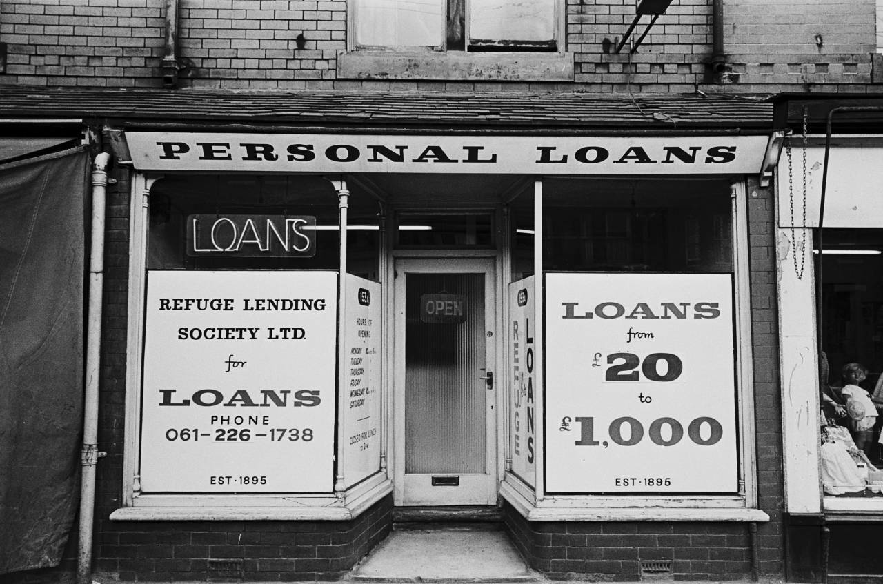 Personal Loans shop, Manchester 1970