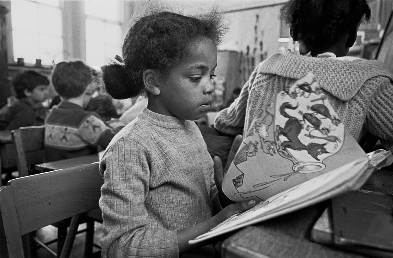 Pupil in an EPA primary school Liverpool 8 1969