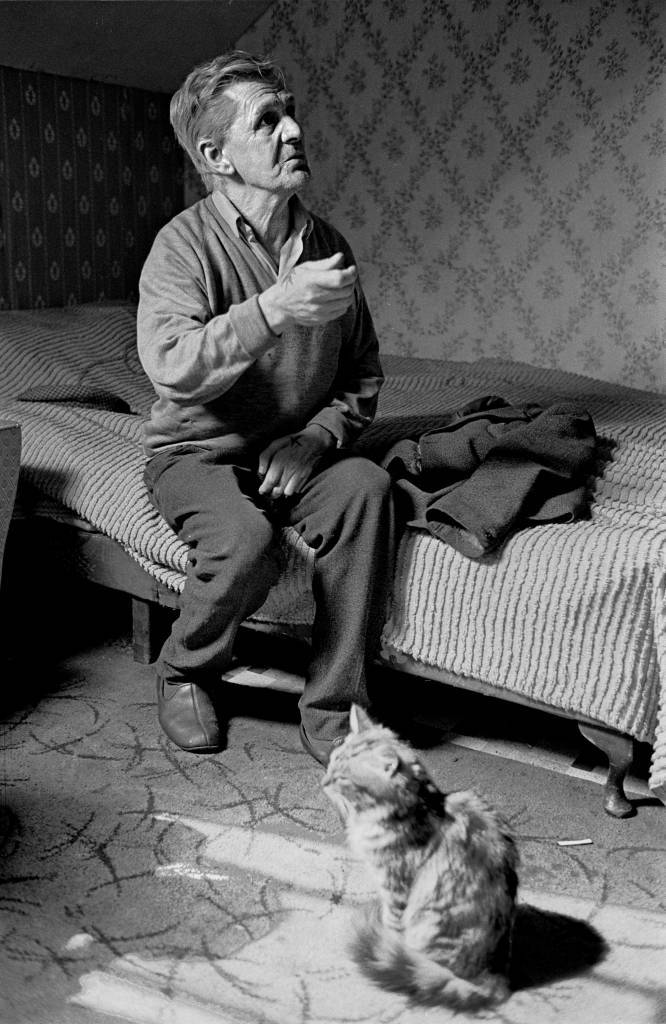 Retired seaman living in a Newcastle multilet 1971