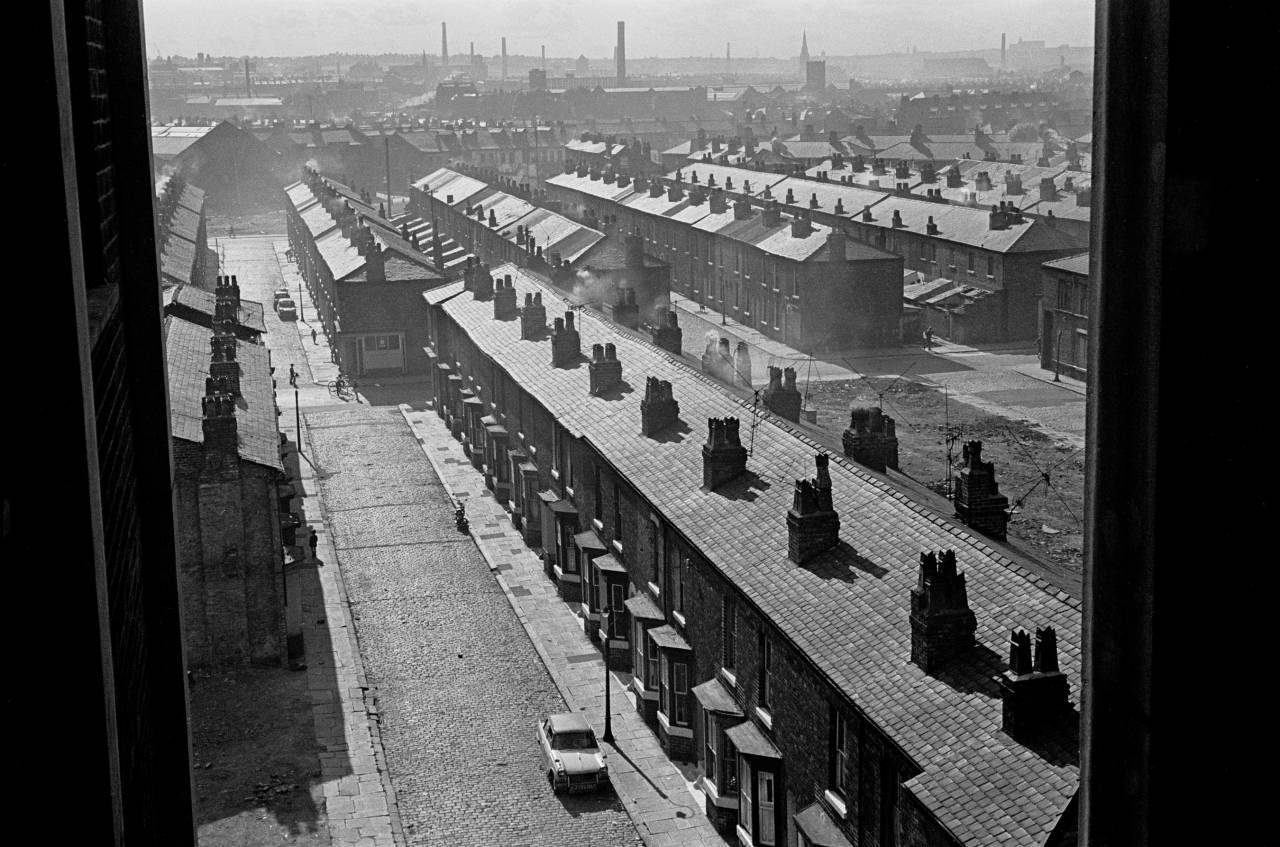 Salford back to back and terraced housing 1971