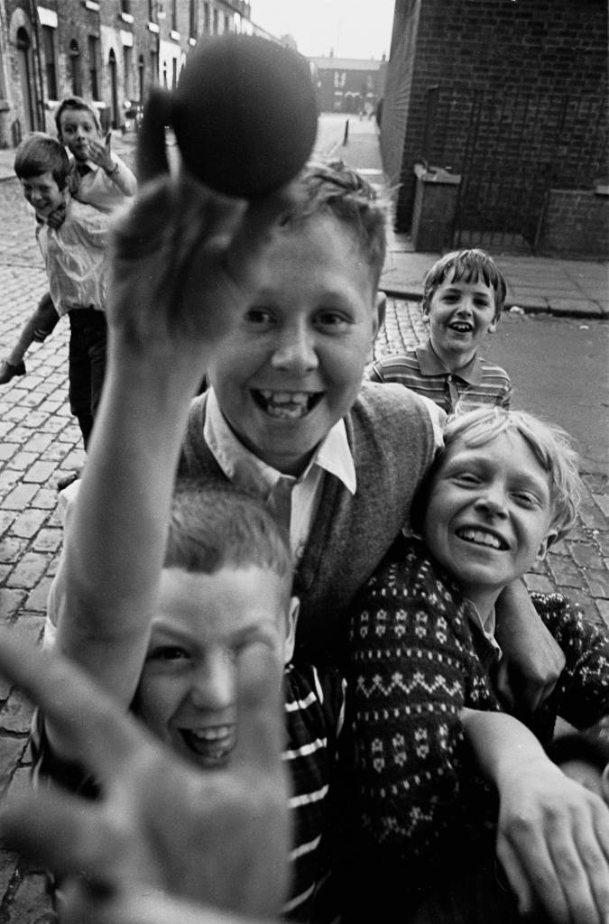 Salford lads 'assault' the photographer, 1969
