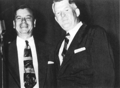Governor Herman Talmadge (left) named a distinguished Baptist minister in Atlanta, James P. Wesberry, as chair of the commission. Wesberry was the only member of the commission to serve throughout its twenty-year duration. Photograph of Talmadge and Wesberry from James C. Bryant, The Morningside Man: A Biography of James Pickett Wesberry (Atlanta, 1975).