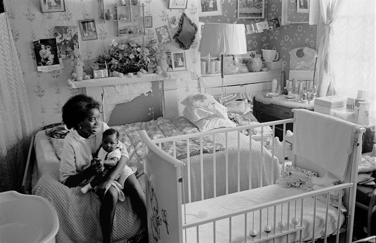 Single mum living in one room Highbury 1972