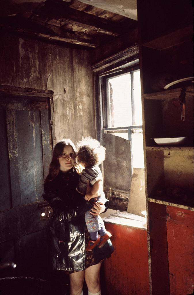 Sisters in the interior of their house in Falkner St, 1969