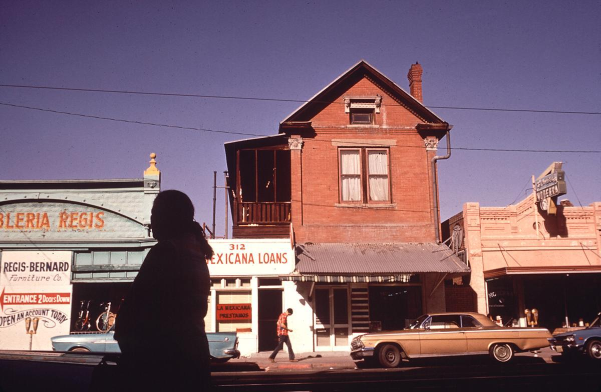 Stanton Street in El Paso's Second Ward, June 1972.