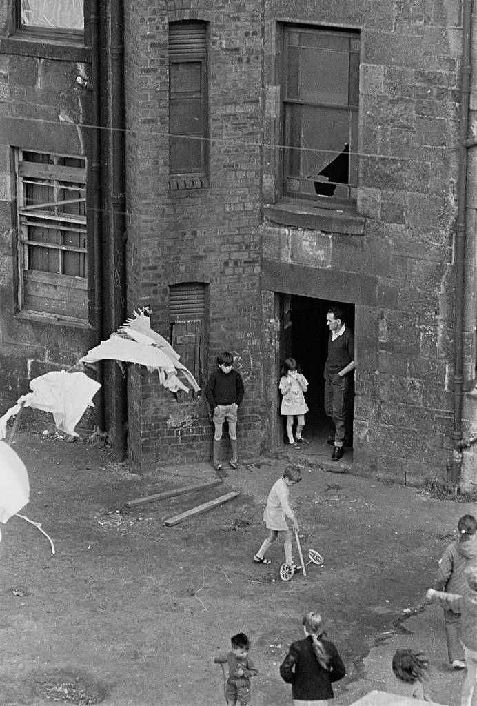 Tenement backyard, Glasgow 1971