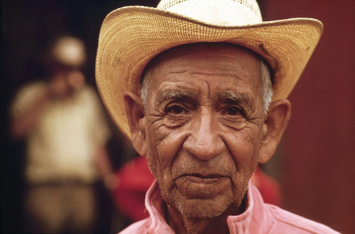 Ranch Hand Who Works in the Area near Leakey, Texas, near San Antonio 05/1973