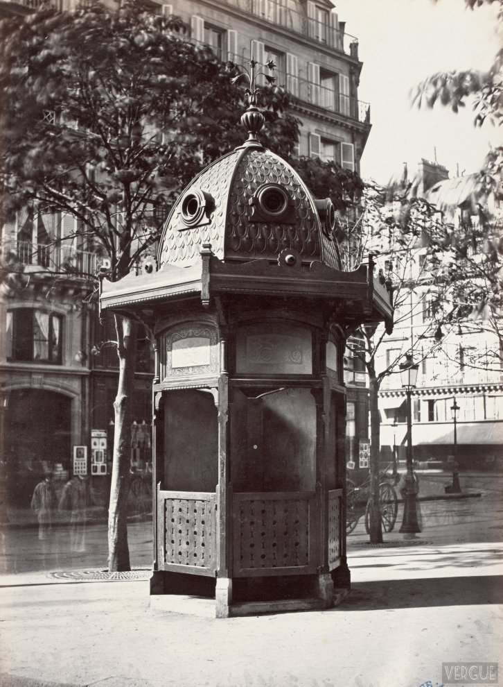Urinal stand 6 stalls. Plateau French Theatre. Paris First. Circa 1875.
