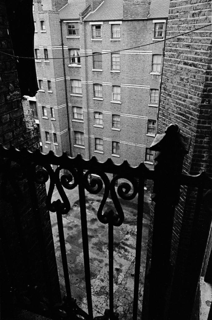 View from a landing in Rothschild Dwellings 1969