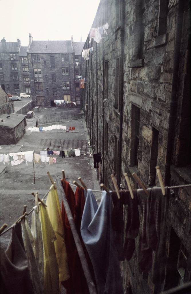 View from kitchen window of Maryhill tenements.1970