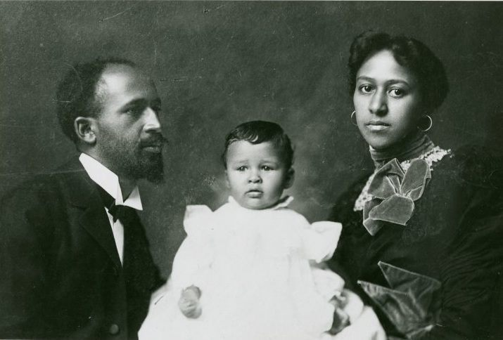 W.E.B. Du Bois, his daughter, Yolande, and his wife, Nina in 190