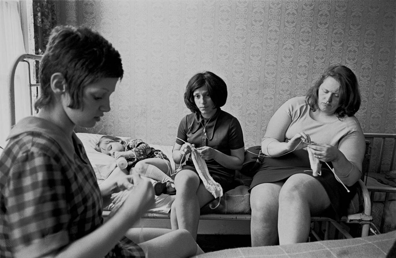 Young mothers in a hostel for unmarried mothers, 1969