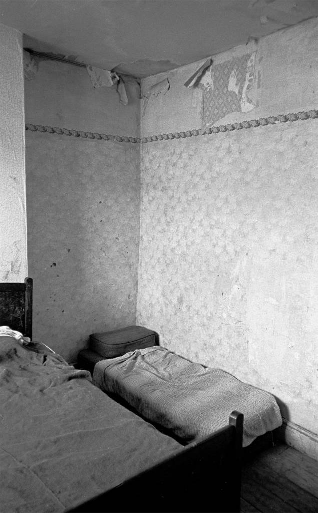 Bedroom in Saltley slum 1971