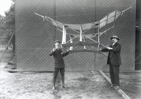 American-born Samuel Franklin Cody (1862-1913) obtained British nationality in 1896. He pioneered the manlifting kite as a means of military observation - the kite holds the observer while the cable is supported by several smaller kites. On 16th October 1908, Cody made the first powered flight in Britain in his British Army Aeroplane No 1 using a 50-hp Antoinette engine. He also took part in the planning and construction of the first British dirigible airship. He was killed in a flying accident at Farnborough, Hampshire, in 1913.