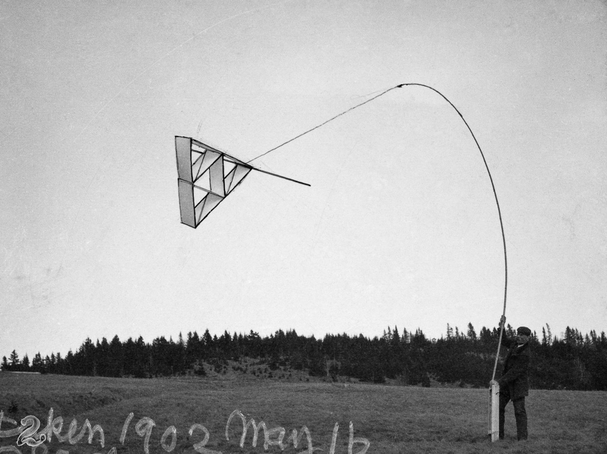 An experimental multicelled kite designed by Alexander Graham Bell.