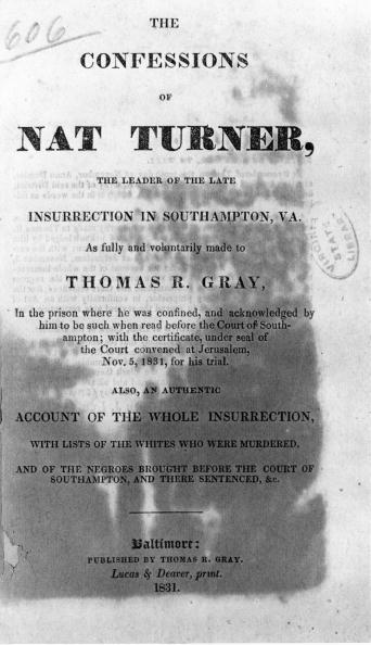 Document of the confessions of Nat Turner, the leader of the last insurrection in Southampton, Virginia USA November 5 1831. (Photo by Fotosearch/Getty Images).