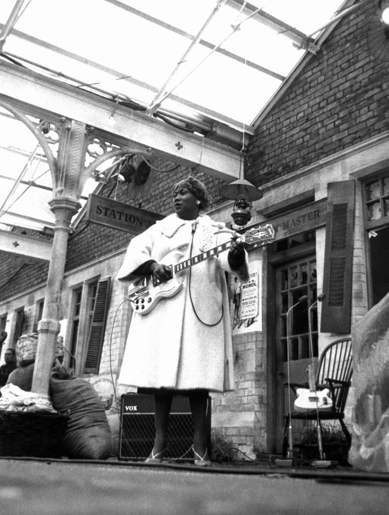 'Blues and Gospel Train' - Sister Rosetta Tharpe - 1964 VARIOUS - 1960'S An innovative musical performed on a real railroad track with the audience one side of the tracks and the musicians on the station side. Also performing are Sonny Terry and Brownie McGee :'Rocking and a whooping''Talking harmonica blues''I'm a roaming rambler'.. Cousin Joe sings 'Hot dog' and 'I'm a railroad porter'.. Muddy Waters performs 'Blow wind blow' and 'You can't lose what you never had'..'Sister Rosetta Tharpe performs 'Didn't it rain children', 'Trouble in mind' and 'Whole world in his hands'.
