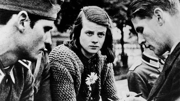 Sophie's brother, Hans Scholl, 24, their best friend, Christoph Probst, 22.