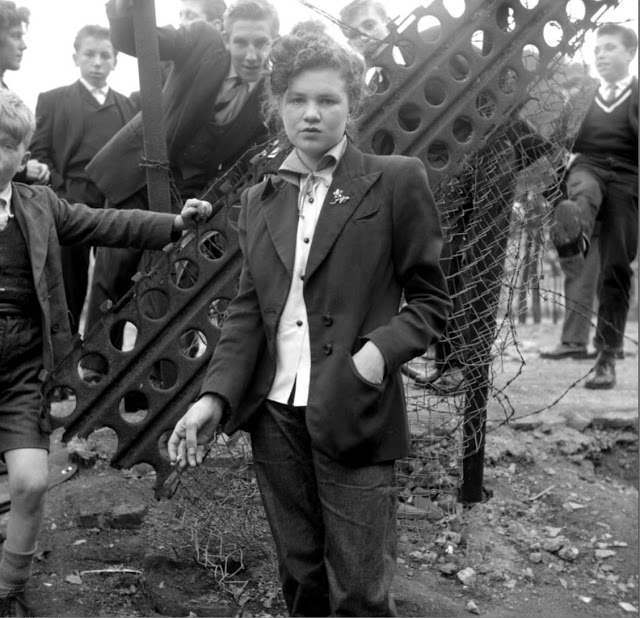 """In Your Dreams ©2006 TopFoto/Ken Russell Photo by Ken Russell, January 1955 From a series: """"The Last of the Teddy Girls"""" 14 year old Jean Rayner in the exploratory stage of Teddyism."""