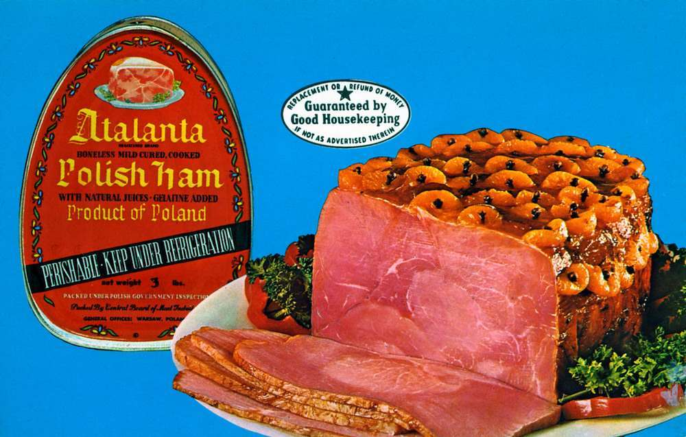 Atalanta Polish Ham Chicago IL Stabbey Food Products Co 171 West Monroe Street Chicago 3, Illinois