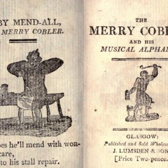The Merry Cobler and His Musical Alphabet (ca. 1800)