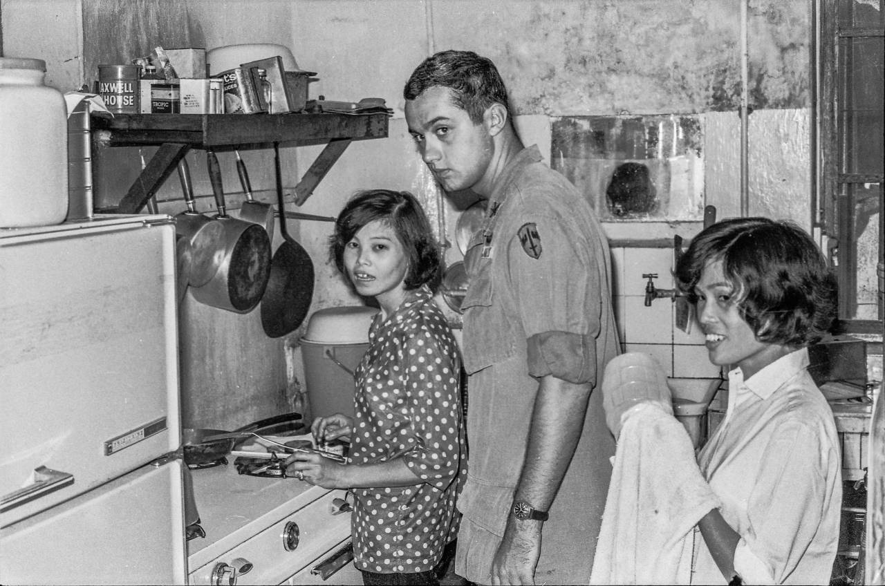 Our Cook, Capt John Kozak, and our housekeeper, 1969 At Embassy House in the City of My Tho, the capital of the Mekong Delta's Dinh Tuong Province south of Saigon in the region known by the military as IV Corps.