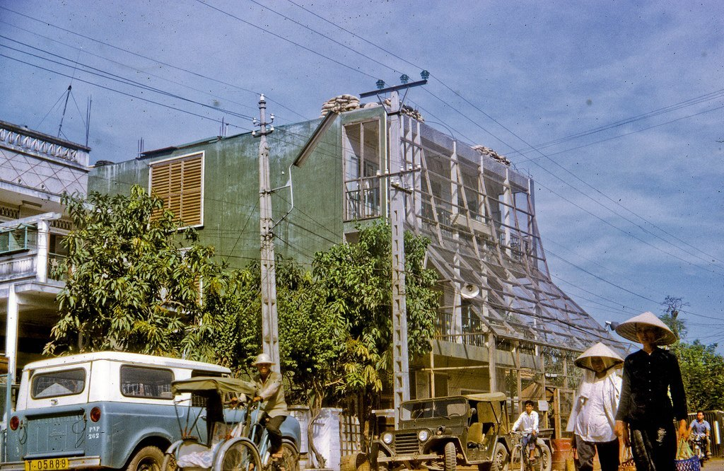HOTEL 1, My Tho, Nov 1968 Hotel 1, the residence for MACV Team 66 personnel in My Tho city, Dinh Tuong Province, Vietnam IV Corps, as seen in 1968.